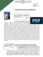POPPER E O MÉTODO FALSIFICACIONISTA