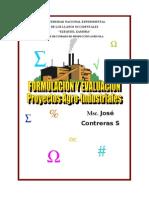 Formulación y Evaluación de Proyec Agroind