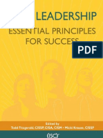 ciso leadership essential principles for success - Ciso Resume