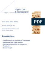 How Data Analytics Can Help Risk Management