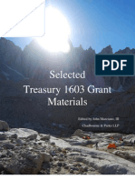 Selected Treasury 1603 Grant Materials