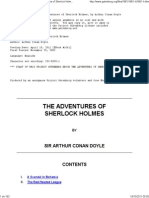 The Project Gutenberg eBook of the Adventures of Sherlock Holmes, By Sir Arthur Conan Doyle