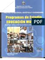 Programa de Estudios de Educación Musical para III Ciclo y Educación Diversificada
