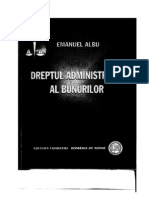 7. -Dreptul Administrativ Al Bunurilor - Emanuel Albu - 2008 - 180 Pag