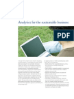 Analytics for Sustainable Business