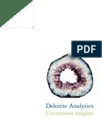 Deloitte Analytics Uncommon Insights