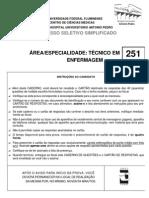 HUAP PSS2009 Tecnico de Enfermagem