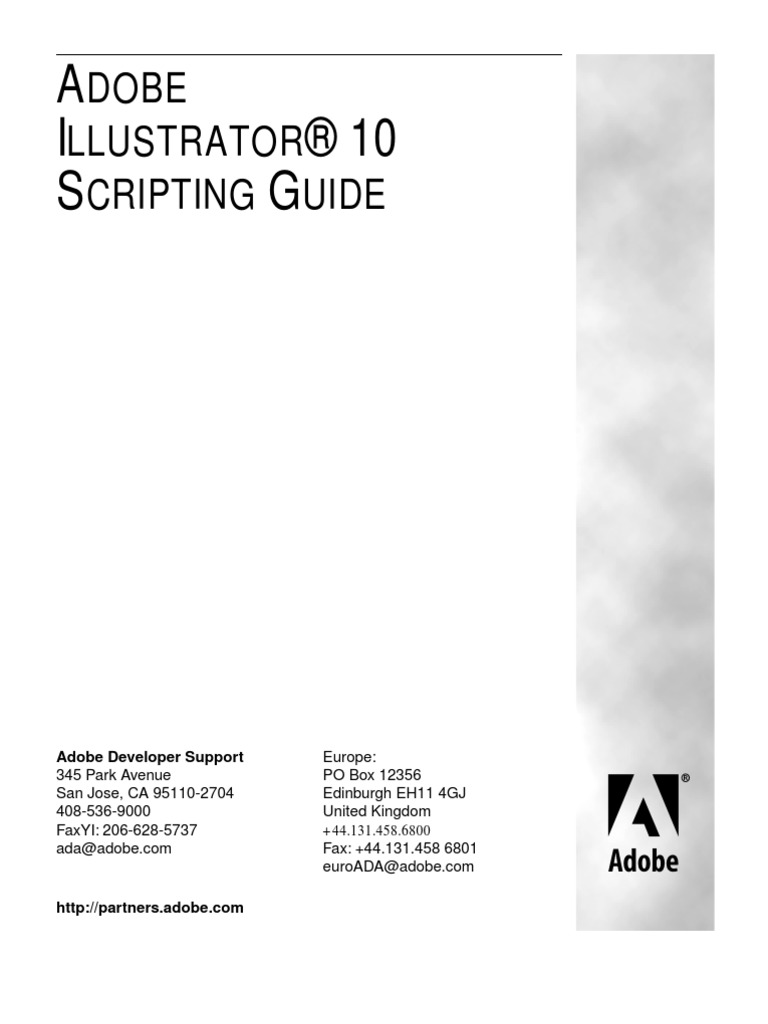 illustrator scripting guide scripting language object computer rh scribd com Adobe Illustrator Tutorials adobe illustrator cs6 scripting guide