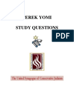 Tanach Perek Yomi Study Questions USCJ