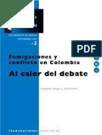 Drogas y Conflicto, nº 02, 2001 - Fumigaciones y conflicto en Colombia