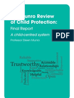 MUNRO the Munro Review of Child Protection Final Report a Child-centred System