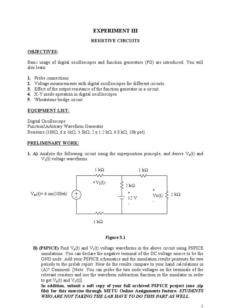 Exp 3 Amplitude Resistor Experiment 6 Resistors In A Series Circuit Ii