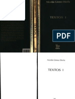 Nicolás Gómez Dávila - Textos I