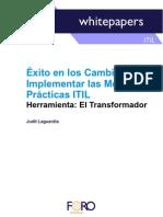 Éxito en los cambios al implementar las Mejores Prácticas ITIL