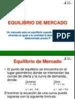 6.-MICROECONOMIA Equilibrio de Mercado