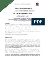 Propuesta de ecuación para la estimación del módulo de elasticidad del concreto preparado con material reciclado