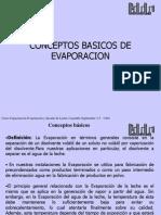 concepto basico evaporacion