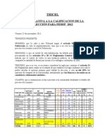 TRICEL Calificación de Elecciones FEDEP 2012