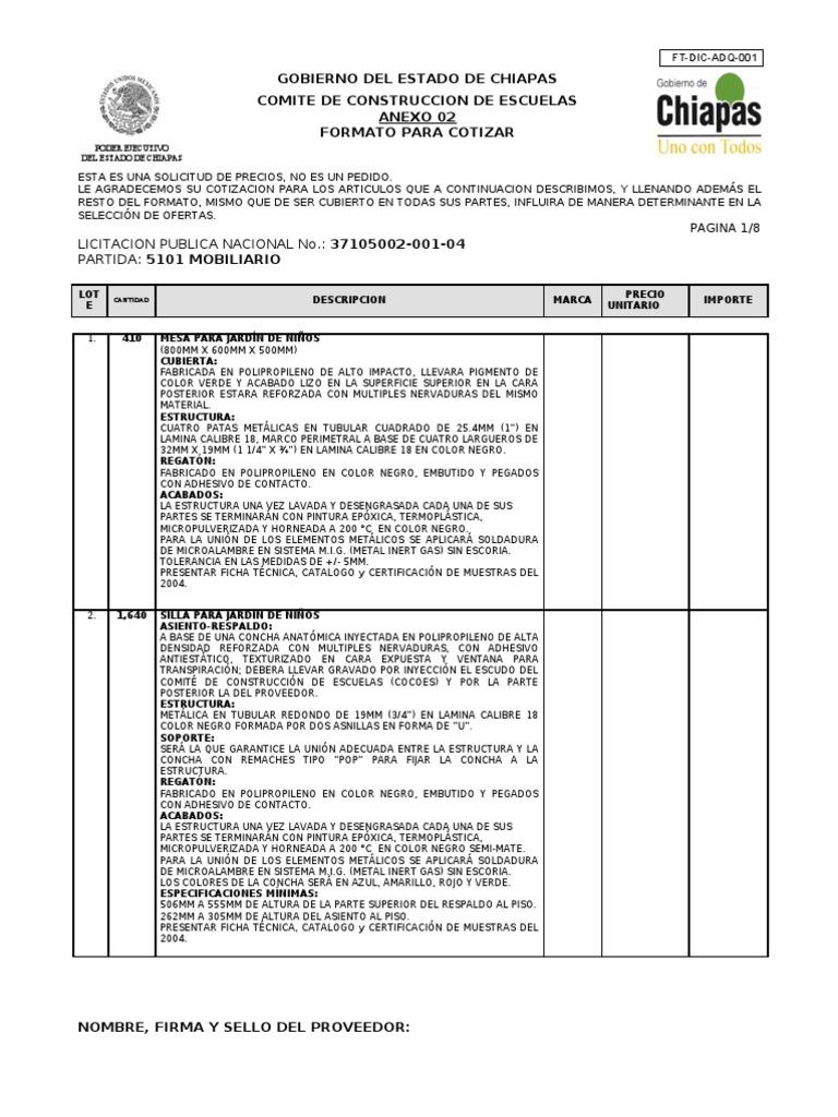 Formato para cotizar for Construccion de muebles de madera pdf