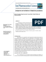 Development and Validation of Dissolution Procedures