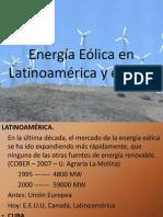 Energia Eolica en La Ti No America y Peru