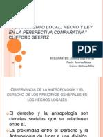 Antropología jurídica - clifford geertz