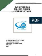 Pedoman Penulisan Skripsi Jurusan Akuntansi Brawijaya