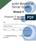 3er Grado - Bloque 2 - Proyecto 3