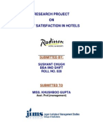 Guest Satisfaction in Hotels RADDISON