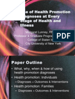 3 Use of Health Promotion Diagnoses at Every Stage