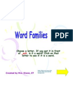 Word Family Ack