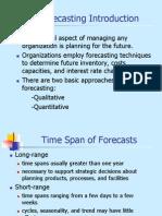 Forecasting Sk