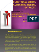 Seminar Functional Drinks