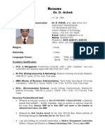 Dr.D. ASHOK, Managemnt Marketing) - Resume