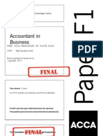 f1 Past Papers by Acute