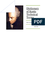 Dictionary of Kants Technical Terms
