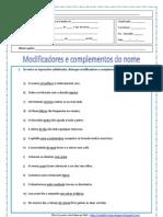 Modificadores e Complementos Do Nome.