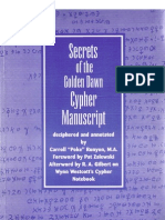 Poke Runyon - Secrets of the Golden Dawn Cypher Manuscript