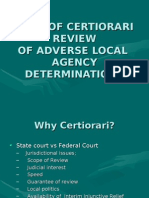 Writ of Certiorari Review