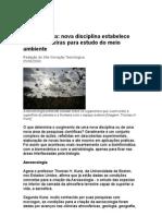 Aeroecologia Nova Disciplina Estabelece Novas Fronteiras Para Estudo Do Meio Ambiente