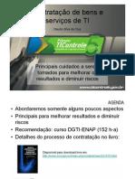 MC01 - Contratacoes de Bens e Servicos de TIC - Claudio Cruz - Jornada de Minicursos Ti Cont Role