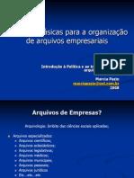 Apresentação Questões básicas - Arquivos Empresariais