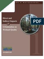 Article Impact Urbanization Wetland Quality