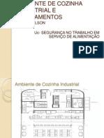 Ambiente de Cozinha Industrial e Equipamentos