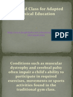 Modified Class for Adapted PE