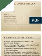 Randomized Complete Block Design--research