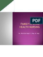 Family in Child Health Nursing