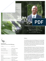 Tyrone Hutchinson Funeral Program