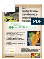 1ª Jornada de Actualización de Investigaciones en Postgrado Oct 2011