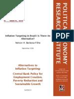 Barbosa Filho, Alternatives to Inflation Targeting